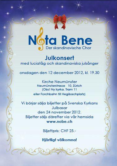 Julkonsert 2012 flyer