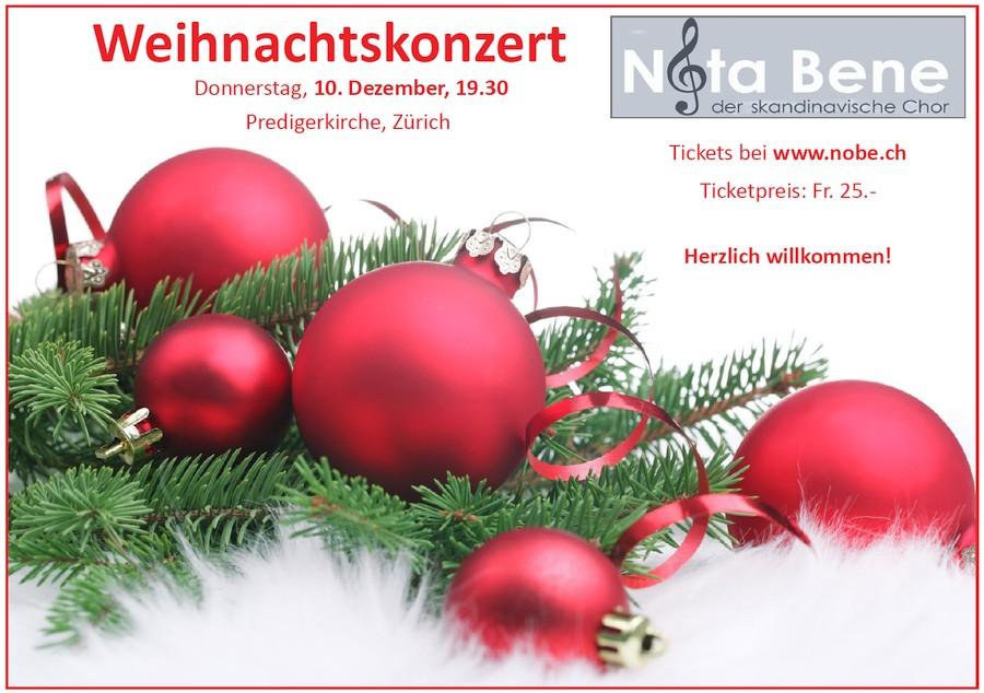 Weihnachtskonzert-Flyer NotaBene 2015